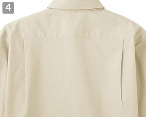 ブロードレギュラーカラー七分袖シャツ(34-FB4528U)の商品詳細「背中タック入り」