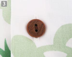 木目調のボタン