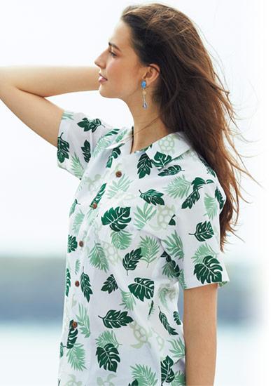 ウミガメリーフ柄のアロハシャツの特徴