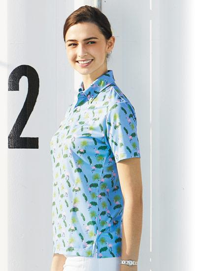 ボンマックスのアロハポロシャツ(34-FB4549U)のポイント画像