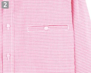 チェック長袖シャツ(34-FB492U)の商品詳細「左胸ポケット」