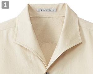 イタリアンカラー七分袖シャツ(34-FB5034M)の商品詳細「イタリアンカラー」
