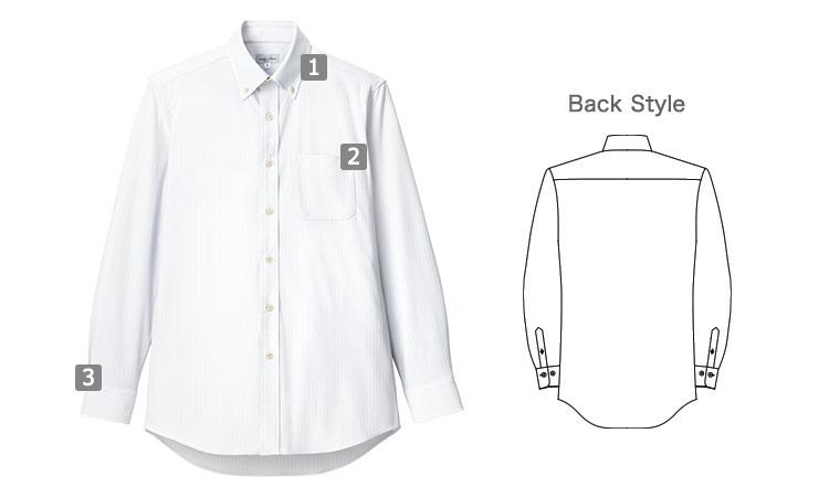 男性用長袖ニットシャツ(34-fb5038m)の商品詳細