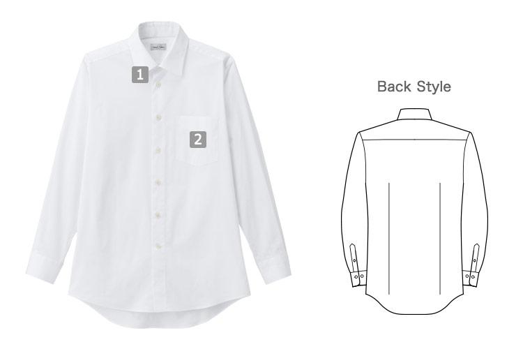 メンズ長袖シャツ(34-FB5040M)の商品詳細