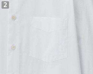 メンズ長袖シャツのポイント�左胸アウトポケット