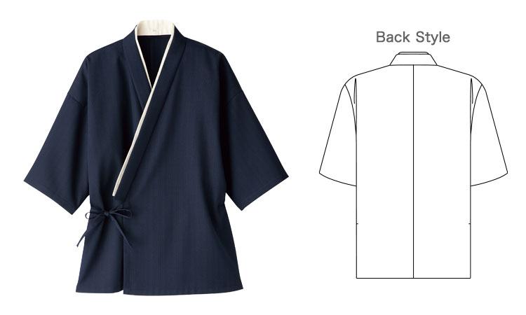 ボンマックスの作務衣(上衣)(34-FJ0704U)の商品詳細