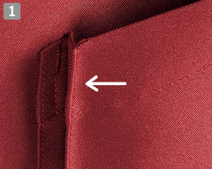 両脇アウトポケット(広めのマチ付き)のミドルエプロン(34-fk7170)