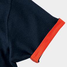 袖裏からチラリとのぞくアクセントカラーがおしゃれ(34-MS3116)