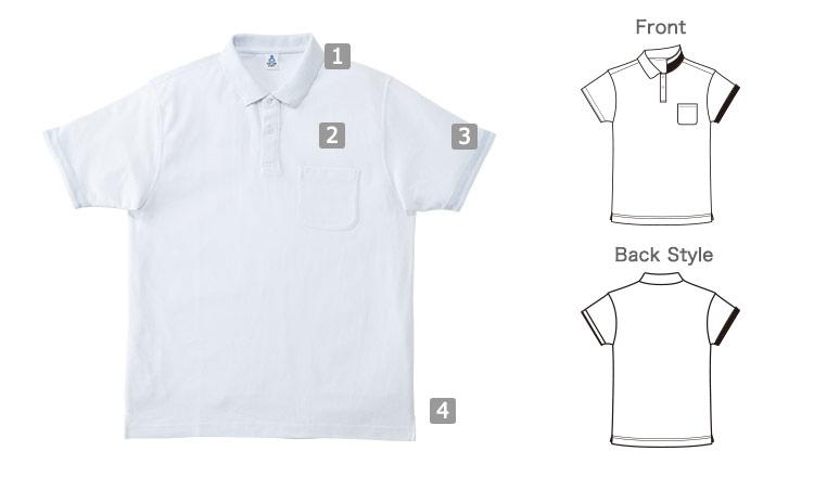 2WAYカラーポロシャツの商品詳細(34-MS3116)