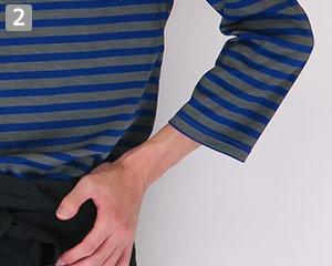 ボートネックTシャツのポイント�邪魔にならない七分袖丈