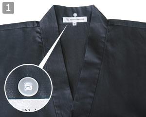 作務衣上衣のポイント1