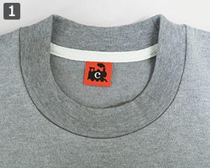 七分袖Tシャツのポイント�詰まった襟ぐり