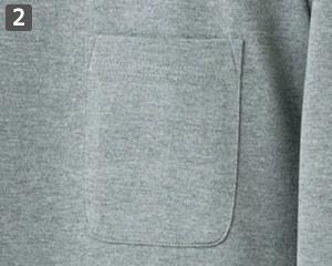 七分袖Tシャツのポイント�ポケット付き
