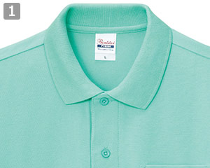 T/Cポロシャツのポイント�同色のボタン