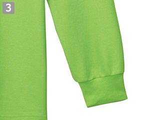 T/C長袖ポロシャツのポイント�袖口リブ仕様