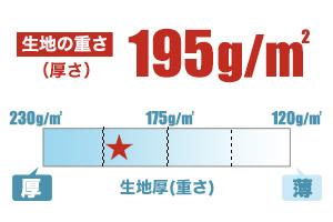 ドライポロシャツ(41-00302ADP)生地の厚さの画像