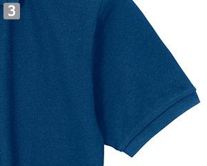 スタンダードポロシャツのポイント�袖口リブ仕様