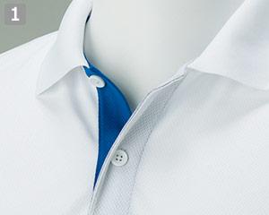 ドライレイヤードポロシャツ(41-00339AYP)の商品詳細「前立て配色」