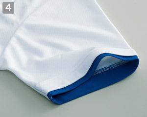 ドライレイヤードポロシャツ(41-00339AYP)の商品詳細「袖口配色」