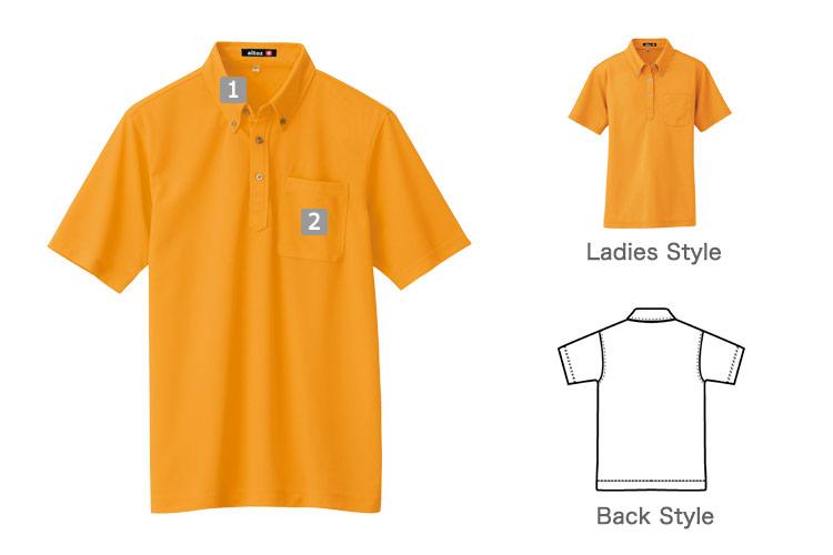 半袖ボタンダウンポロシャツ(61-10599)の商品詳細