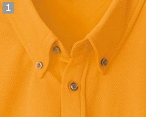 半袖ボタンダウンポロシャツ(61-10599)の商品詳細「ボタンダウンの襟元」