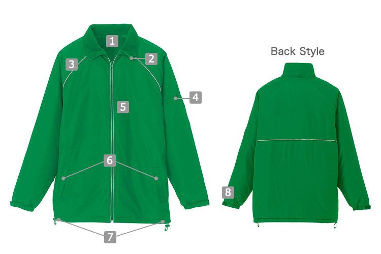 アイトスの裏フリースジャケット(61-2203)の商品詳細