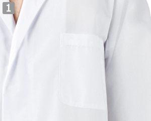 白衣/七分袖(71-1-607)の商品詳細「左胸ポケット付き」