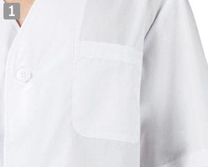 白衣/半袖(71-1-612)の商品詳細「左胸ポケット付き」