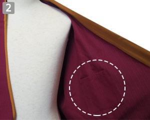 作務衣のポイント�左胸内ポケット