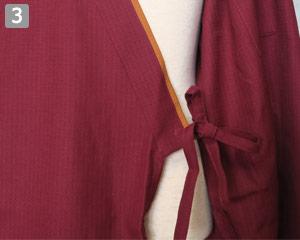作務衣のポイント�左腰の内紐