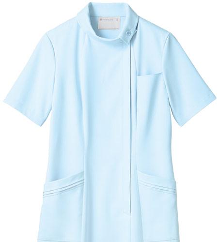 伸縮性があって肌触りの良いワンピース白衣