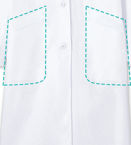 両脇ポケットのイメージ図