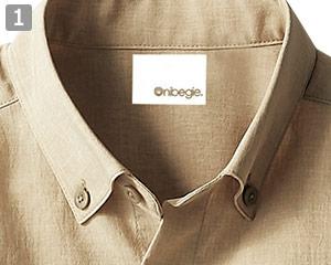 オニベジシャツのポイント�ボタンダウン仕様の襟