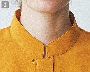 オニベジスタンドカラーシャツのポイント�スタンドカラー