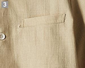 オニベジスタンドカラーシャツのポイント�左胸ポケット付き