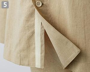 オニベジスタンドカラーシャツのポイント�ラインテープ