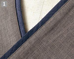 オニベジプルオーバーのポイント�重ね襟風