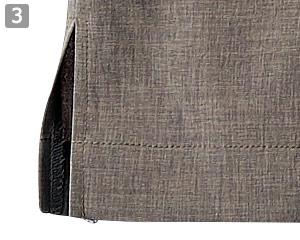 オニベジプルオーバーのポイント�両裾スリット入り