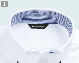 ニットシャツのポイント�配色ストライプ