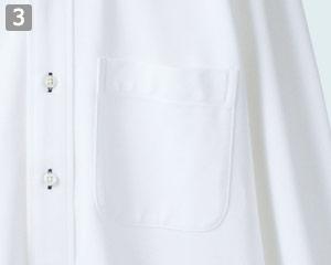 ニットシャツのポイント�左胸ポケット付き