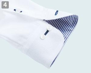 ニットシャツのポイント�アジャストボタン付き