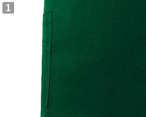 ミドルエプロンのポイント�右腰は二重ポケット