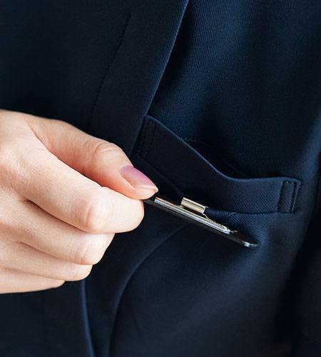 左胸ポケットのイメージ画像