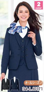 BONMAX(ボンマックス)の事務服 大人可愛いチェック柄のジャケット 34-lj0171