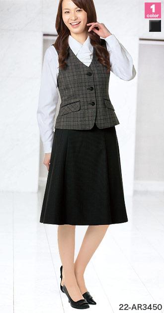 ALPHAPIER(アルファピア)の事務服 セミフレアスカート 22-ar3450