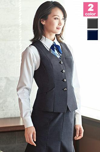カーシーカシマ(enjoy)の事務服の事務服 着痩せベスト(A9-EAV679)