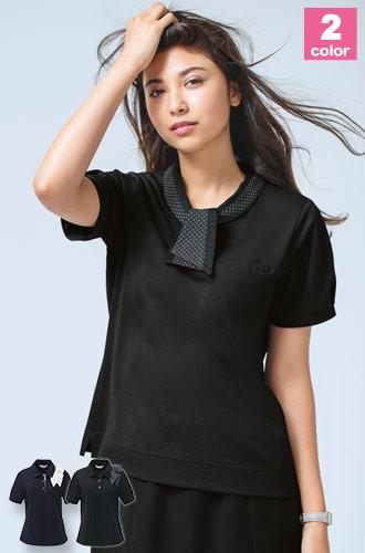 カーシーカシマ(enjoy)事務服 タイ型ポロシャツ(A9-ESP404)