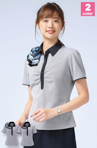 スカーフ付きポロシャツ(A9-ESP453)