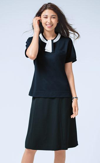 クールビズ事務服 タイ型ポロシャツ(A9-ESP404)