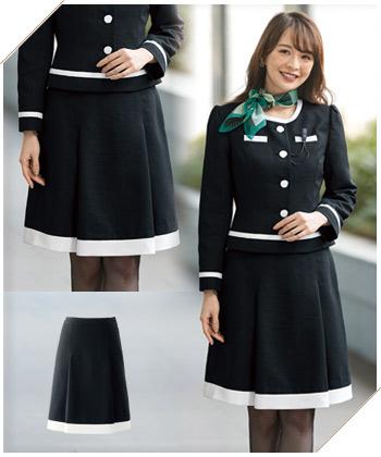 新作事務服 プリーツスカート(21-51925)